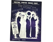 Doctor, Lawyer, Indian Chief Sheet Music 1945 The Stork Club Hoagy Carmichael