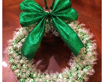 Spearmint Edible Candy Wreath (300 pieces)