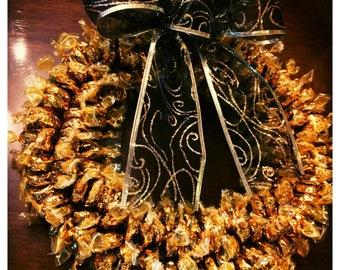 Premium Werther's Edible Candy Wreath (350+ pieces)