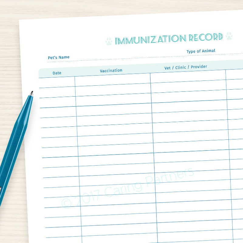 picture relating to Printable Immunization Record called Doggy Immunization - Veterinary History - Printable PDF - For maintaining keep track of of your puppy/cats pics and vaccinations. Terrific for all animals.