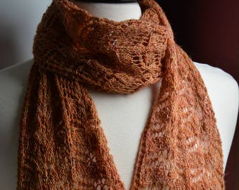 Lacy Autumn Leaves Scarf