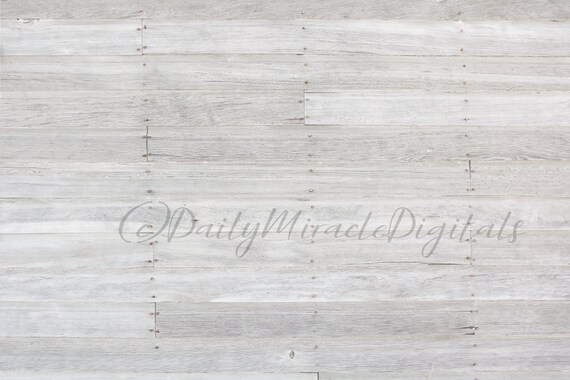 White Rustic Wood Wall Or Floor Digital Backdrop Background