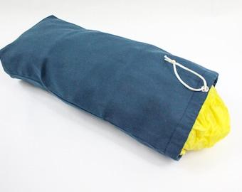 Bag Dispenser, Camper Storage, Hanging Storage, Grocery Bag Tube, Gift for Him, Navy Blue, Store Bag Holder, New Home Gift, Garage Organizer