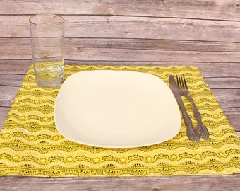 Placemat Setting Rectangle Placemat Table Decor Colorful Dining Linens Table Setting Spring Decor Dining Table Reversible Free Shipping