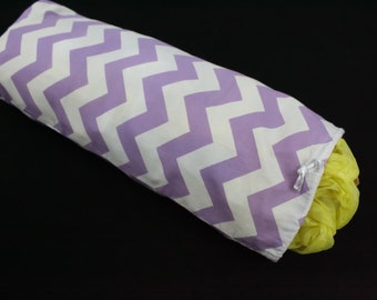Purple, Chevron, Plastic Bag Holder, Plastic Bag Keeper, Recycle Grocery Bag, Kitchen Gift, Bag Collector, RV, Closet Organizer, Handmade