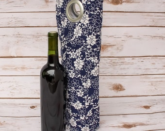 Wine Tote, Single Wine Bag, Wine Holder, Carry Bag, Wine Carrier, Wine Lover Gift, Bottle Caddy, Market Tote, Party Supplies, Wine Gift Bag