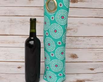 Fun, Colorful, Wine Carry Bag, Market Tote, Housewarming, New Home Gift, Picnic Tote, Wine Lovers Gift, Bottle Carrier, Unique Gift Idea