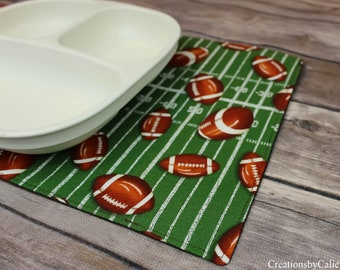 Football Themed, Snack mats, Gift Idea, For Sports Fan, Small Placemats, For Dinner Table, Gift for him, Free Shipping, Fabric Table Mat