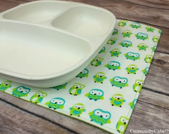 Small Placemats, Mini Tablemats, Gift Idea, Washable, Table Linens, Dining Room Decor, Snackmats, Reversible, Free Shipping, Toddler Gift