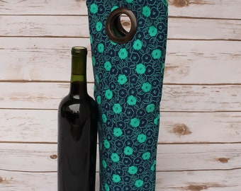 Wine Tote Hostess Gift Bottle Carrier Wine Carry Bag Champagne Bag Wine Sleeve Wine Lovers Gift Weekender Bag Beverage Carrier Picnic Bag