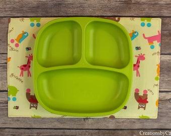 Cute Animal Decor, Snack Mats, Elephants, Dining Room Table Decor, Pigs, Pink Polk Dot, Gift Idea for Toddler Girls, Penguins, Giraffes