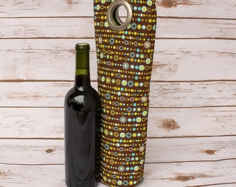Wine Bottle Bag Wine Carrier Wine Tote Colorful Hostess Gift Beverage Holder Wine Tote Carrier New Home Wine Gift Idea Handmade