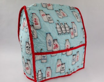 Mixer Cozy, Vintage Style, Kitchen Decor, Milk Jugs, Gift Idea, Bakers Gift, Quilted, Appliance Cover, For Stand Mixer, Novelty Gift