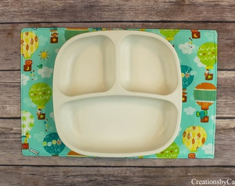 Snack Mats for Toddlers, Colorful and Vibrant Small Table Mats, Reversible, Rectangle Placemats, Gift Ideas, Mini Placemats, Free Shipping