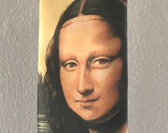 Vintage 1992 Ralph Marlin Mona Lisa Tie Leonardo DaVinci