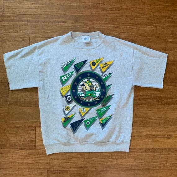 Vintage Notre Dame cut off crewneck sweatshirt XL cutoff