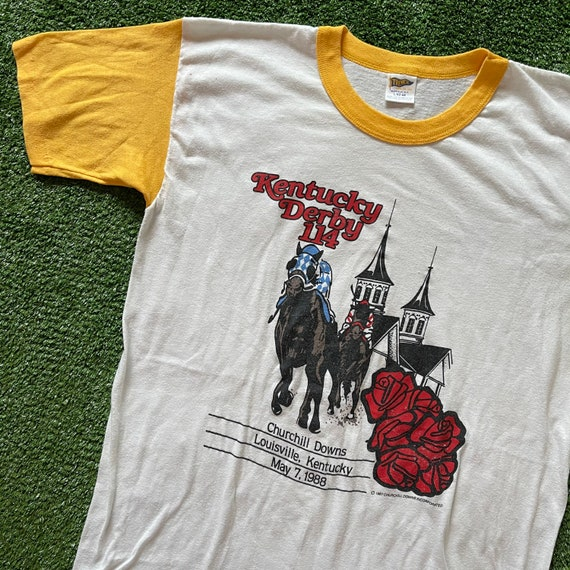 Vintage 1988 Kentucky Derby 114 Ringer T-Shirt Pap