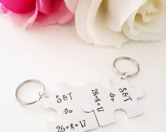 Personalised Puzzle Piece Keyring