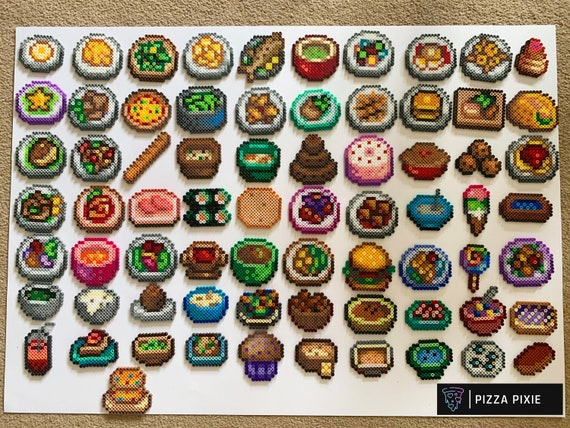 Any Single Sprite Of The 71 Stardew Valley Food Recipes Made From Perler And Artkal Beads As Magents