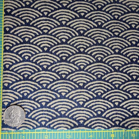 Japanese Import Westex fabric Medium Waves on Tan