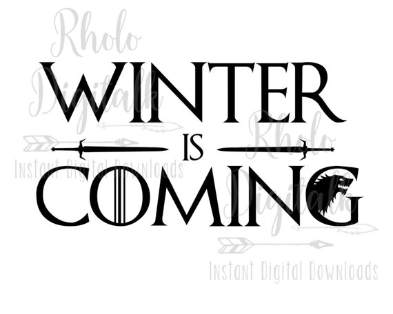 winter is coming font - Parfu kaptanband co