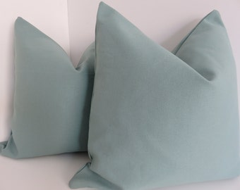 Solid Teal Pillow Cover- Sky Pillow Covers- Pillow Covers- Aqua solid Pillows- Aqua Pillows- Accent Pillows- Pillows- Decorative Pillows