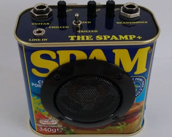 THE SPAMP PLUS Guitar Practice Amplifier and Distortion Effect With Speaker