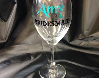 Personalised Wedding Wine Glasses