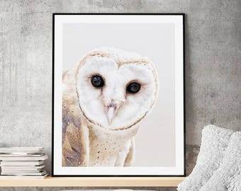The Owl Scandi Style Art Print