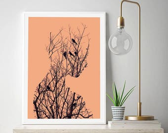 Birds by Andreas Lie Art Print