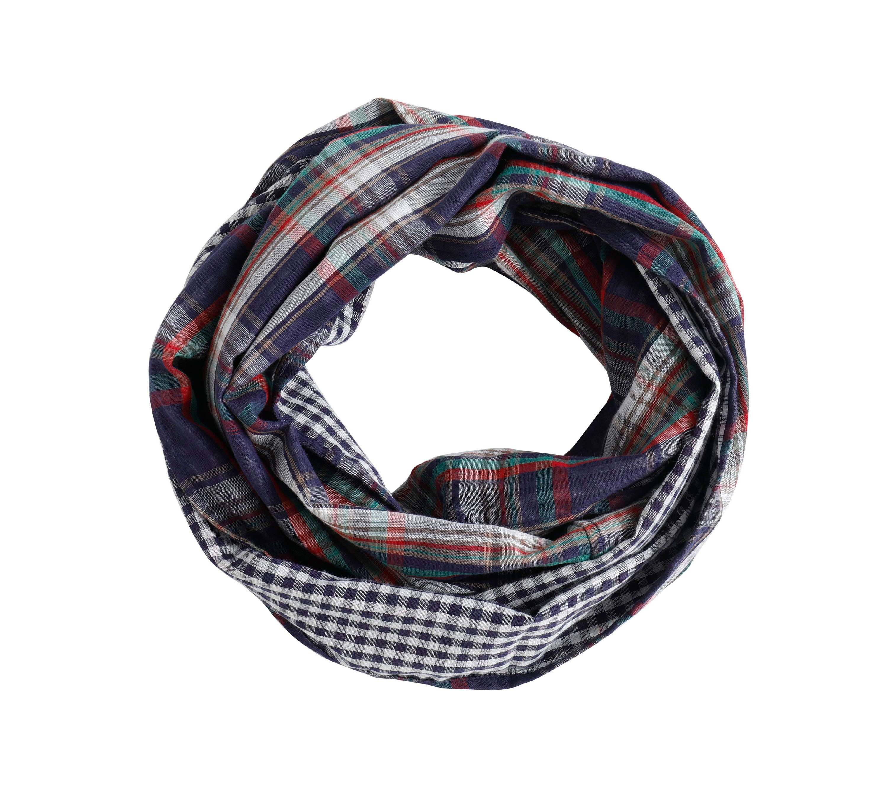 Plaid Infinity Scarf 100 Cotton Infinity Scarf Double