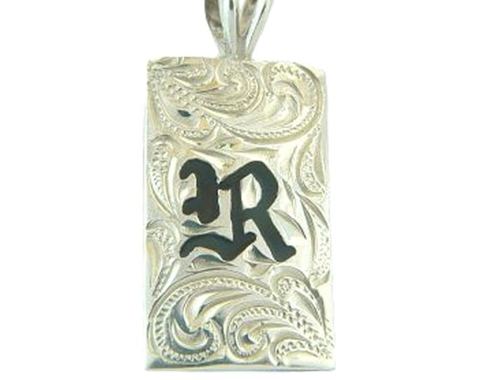 Hawaiian Heirloom Jewelry Custom Sterling Silver Initial 15mm Pendant - YOUR INITIAL from Maui, Hawaii