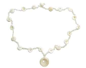 Hawaiian Jewelry Rare Handmade Puka Shell Necklace from Maui, Hawaii