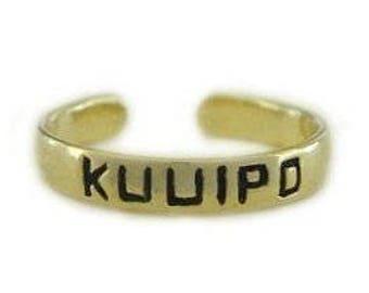 Hawaiian Jewelry 14k Gold Plated Sterling Silver KUUIPO Toe Ring from Maui, Hawaii