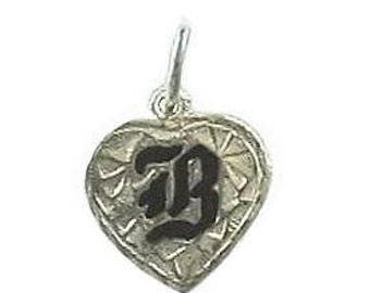 Hawaiian Heirloom Jewelry Custom Silver Initial Heart Pendant - YOUR INITIAL from Maui, Hawaii
