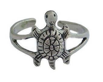 Hawaiian Jewelry Solid Sterling Silver Honu Sea Turtle Toe Ring from Maui, Hawaii