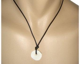 Hawaiian Jewelry Rare Handmade Large Single Puka Shell Necklace from Maui, Hawaii