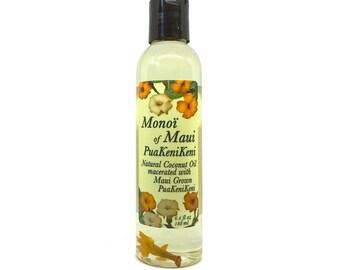 Monoi of Maui PuaKeniKeni Natural Coconut Oil for Skin, Hair,Tanning, & Massage from Maui, Hawaii