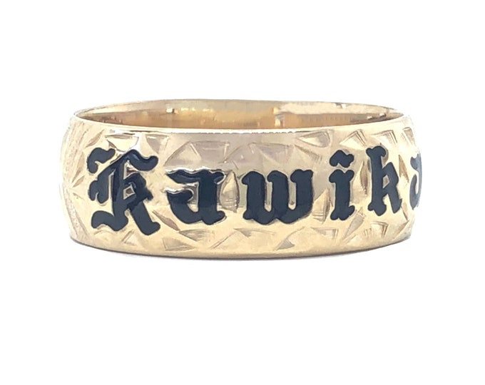 Hawaiian Heirloom Jewelry Custom 14K Gold Ring with YOUR NAME from Maui, Hawaii