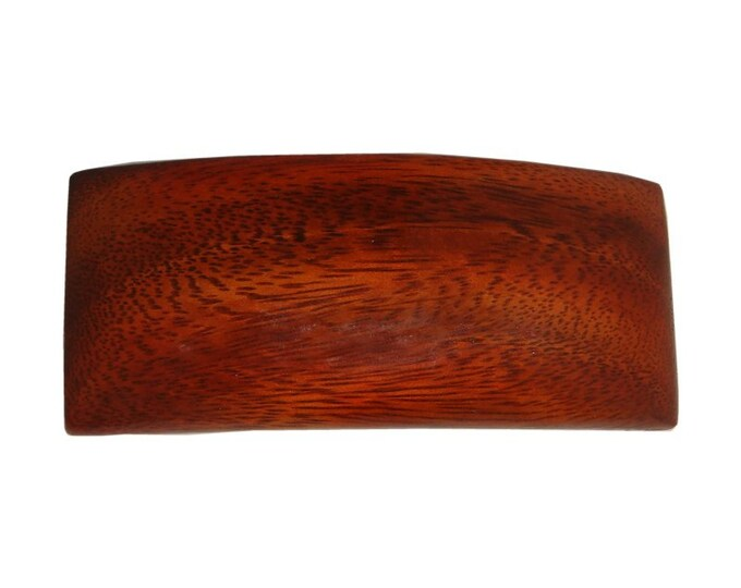 Hawaiian Koa Wood Rectangle Hair Clip Barrette From from Maui, Hawaii