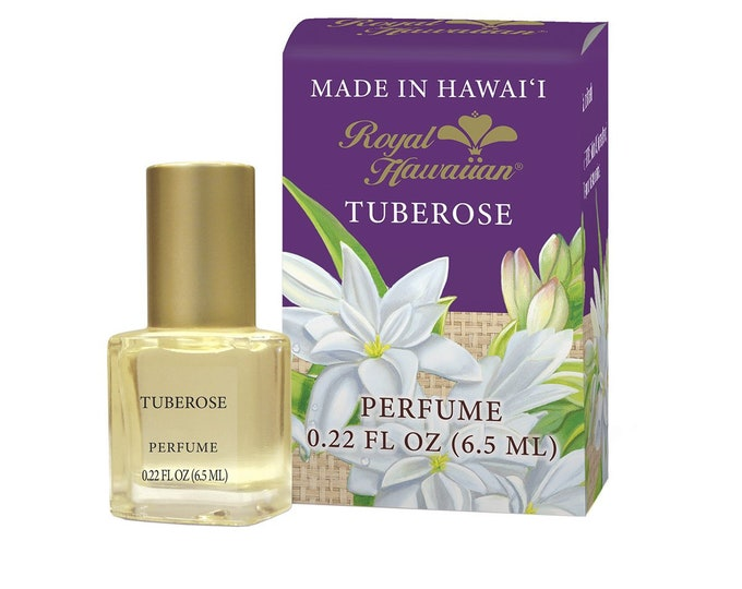 Royal Hawaiian Perfumes Tuberose Flower Perfume 0.22 Ounce from Maui, Hawaii