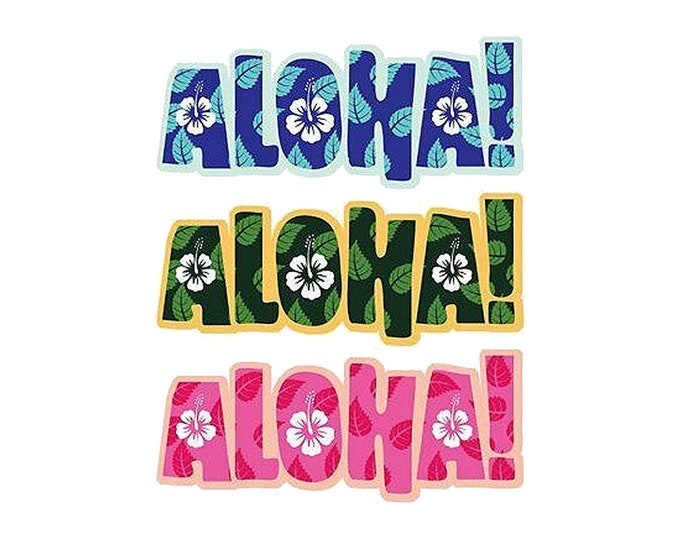 Hawaiian Aloha Decorative Sticker Decal Set from Maui, Hawaii