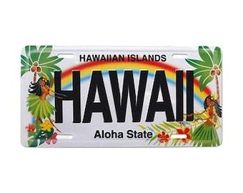 6in x 12in Vintage Hawaiian Hula Honeys Embossed Aloha State License Plate - Hawaii