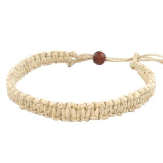 Hawaii Jewelry Tiger Puka Shell Bracelet with Hawaiian Koa Wood Bead from Hawaii