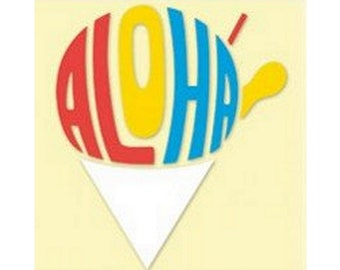 Aloha Shave Ice Small Decal Sticker from Maui, Hawaii