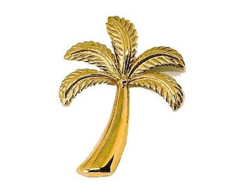 Hawaiian Jewelry 14K Gold Palm Tree Pendant from Maui, Hawaii