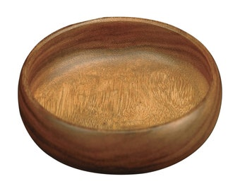 Hawaiian Handmade Acacia Wood 6 Inch Round Calabash Bowl from Maui, Hawaii