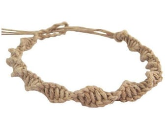 Hawaiian Jewelry Twisted Hemp Bracelet Original Handmade From Maui Hawaii