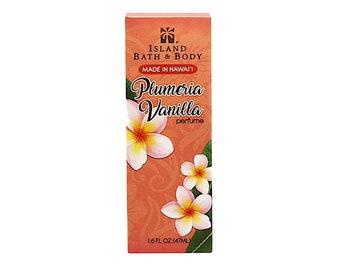 Island Bath And Body Plumeria Vanilla Perfume 1.6 Ounce from Maui, Hawaii