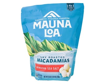 Mauna Loa Dry Roasted Hawaii Macadamia Nuts with Hawaiian Sea Salt, 25-Ounce Bag from Maui